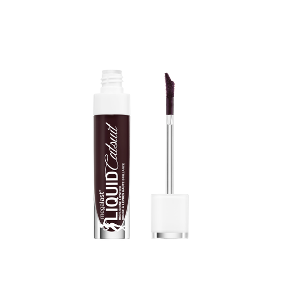 Wet n Wild | MegaLast Liquid Catsuit High-Shine Lipstick- Late Night Done Right - Product front facing with cap off on a white background