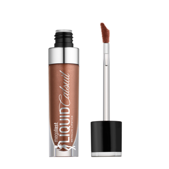 Wet n Wild | MegaLast Metallic Liquid Catsuit-Honeyglaze - Product front facing with cap off on a white background