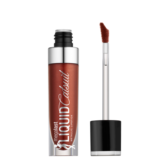 Wet n Wild | MegaLast Metallic Liquid Catsuit-Once in a Bronze Moon - Product front facing with cap off on a white background