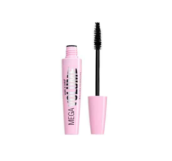 Wet n Wild | Mega Volume Waterproof Mascara, Very Black - Product front facing with cap off on a white background