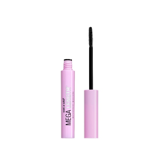 Wet n Wild | Mega Length Waterproof Mascara, Very Black - Product front facing with cap off on a white background