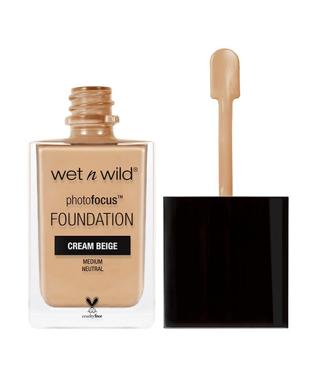 Wet n Wild | Photo Focus Foundation Cream Beige - Product front facing with cap off on a white background