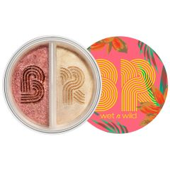 Wet n Wild | Bretman Rock Loose Highlighter Duo - Product front facing with cap off on a white background