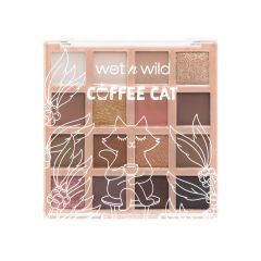 wet n wild | Coffee Cat Shadow Palette | Shadow palette front facing closed over a white background