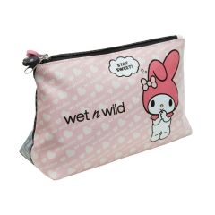wet n wild | My Melody + Kuromi Cosmetic Bag-Product front facing angled on a white background