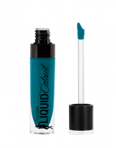 Wet n Wild | Megalast Liquid Catsuit Matte Lipstick-The Shade is Teal - Product front facing with cap off on a white background