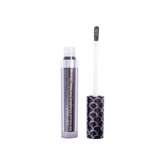 Wet n Wild | Color Icon Metallic Liquid Eyeshadow - Mysterious Nights - Product front facing with cap off on a white background