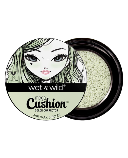Wet n Wild | MegaCushion Color Corrector -Green - Product front facing with cap off on a white background