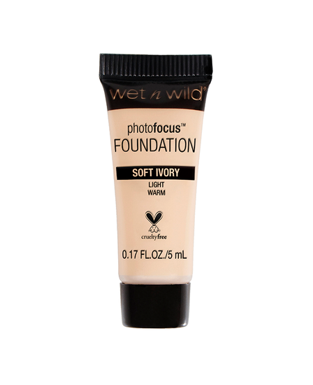 Wet n Wild   Mini Photo Focus Foundation Soft Ivory (Sample) - Product front facing on a white background