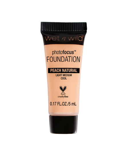 Wet n Wild   Mini Photo Focus Foundation Peach Natural (Sample) - Product front facing on a white background