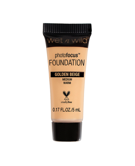 Wet n Wild   Mini Photo Focus Foundation Golden Beige (Sample) - Product front facing on a white background