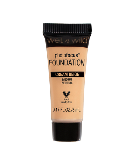 Wet n Wild | Mini Photo Focus Foundation Cream Beige (Sample) - Product front facing on a white background