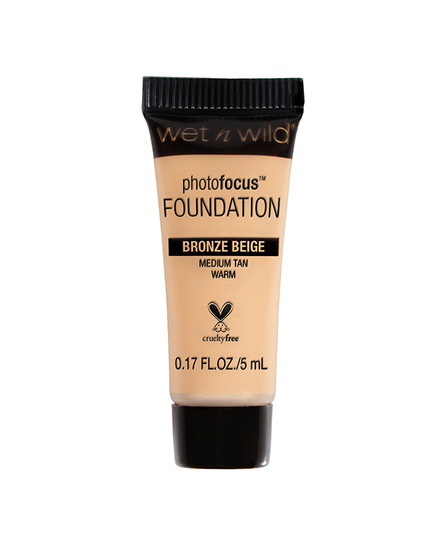 Wet n Wild | Mini Photo Focus Foundation Bronze Beige (Sample) - Product front facing on a white background