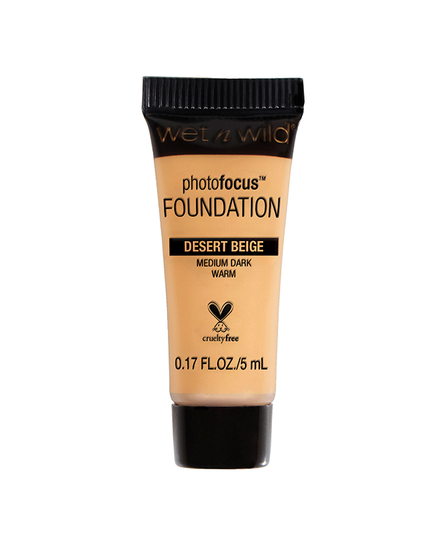 Wet n Wild   Mini Photo Focus Foundation Desert Beige (Sample) - Product front facing on a white background