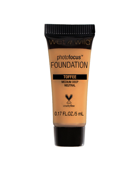 Wet n Wild   Mini Photo Focus Foundation Toffee (Sample) - Product front facing on a white background