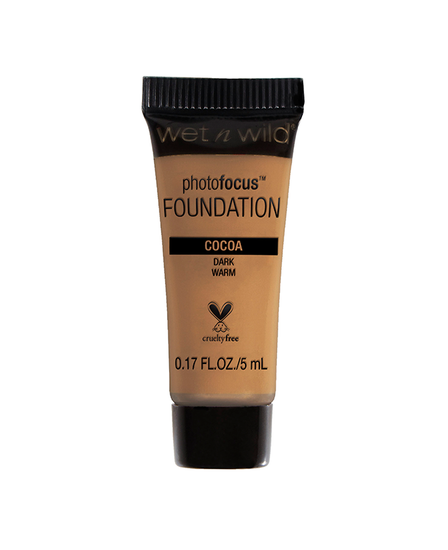 Wet n Wild | Mini Photo Focus Foundation Cocoa (Sample) - Product front facing on a white background