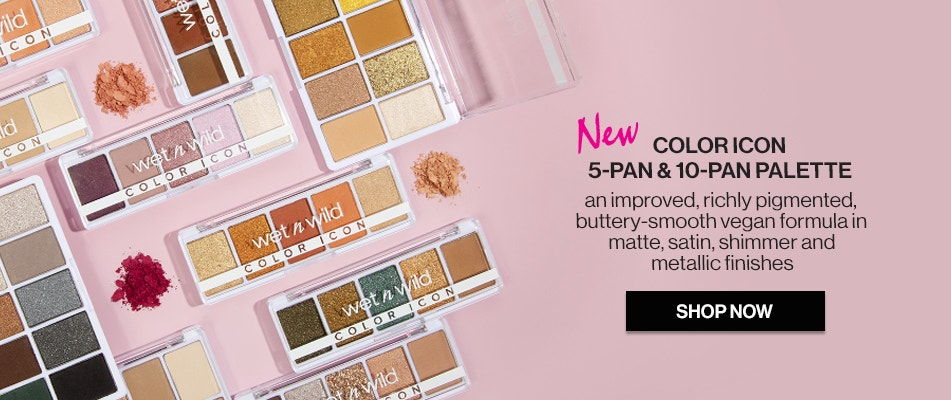 wet n wild | NEW Color Icon 5-Pan and 10-Pan Palette | An improved, richly pigmented, buttery-smooth vegan formula in matte, satin, shimmer and metallic finishes | SHOP NOW