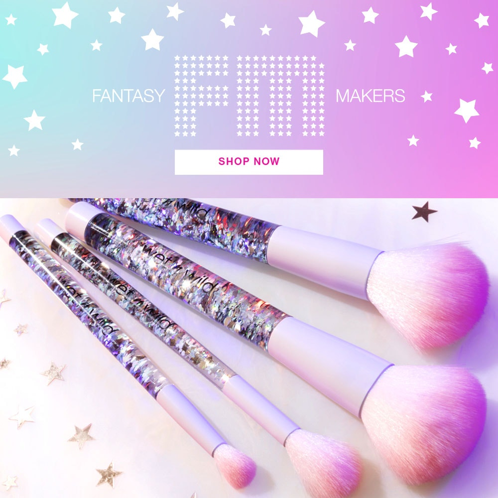 Fantasy Makers | wet n wild | Shop Now | Brushes scattered with stars and white background