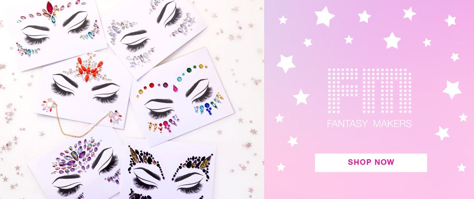 Fantasy Maker Face Gems| wet n wild | Shop Now | Products scattered with stars and white background