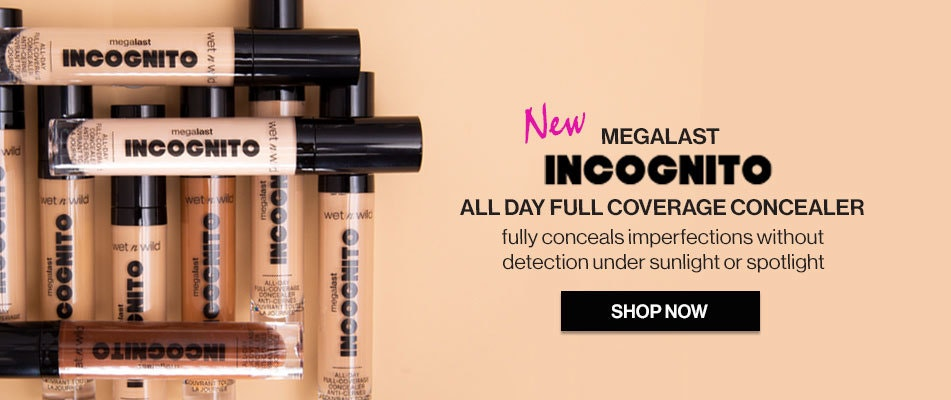 NEW MegaLast Incognito All Day Full Coverage Concealer fully conceals imperfections without detection under sunlight or spotlight | SHOP NOW