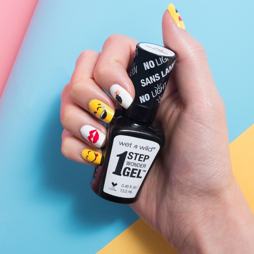 Wet N Wild Emoji Nail Art