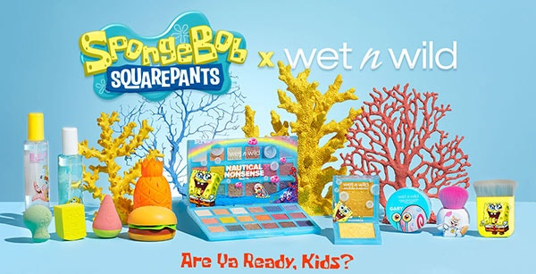 SpongeBob X wet n wild Full Collection | wet n wild | Products front facing with corals and blue background