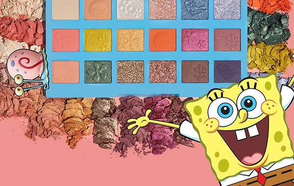 Nautical Nonsense Palette | wet n wild| Product open, with swatches and coral background
