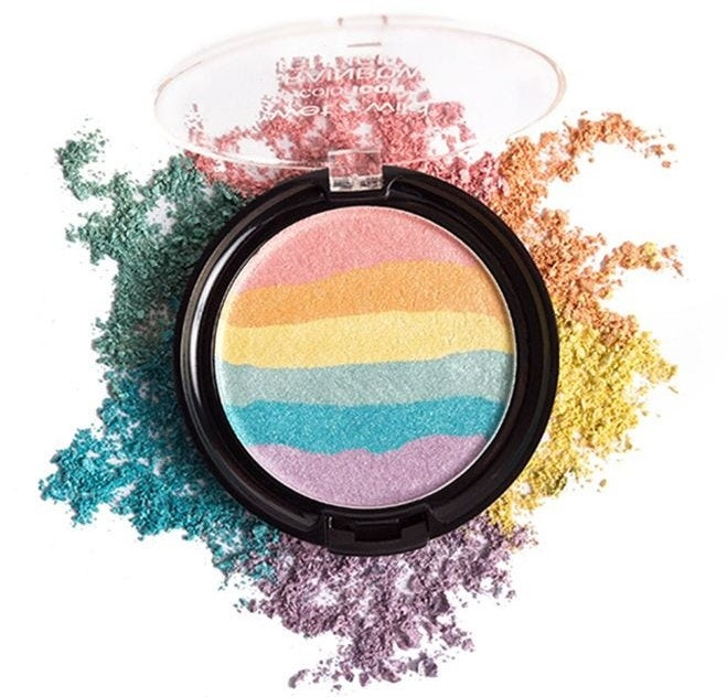 Rainbow Highlighter Makeup